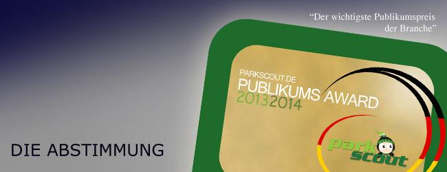 Parkscout.de Publikums Award 2013/2014